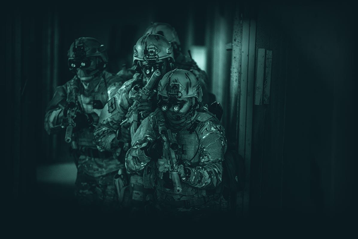 commando's met nachtlkijkers