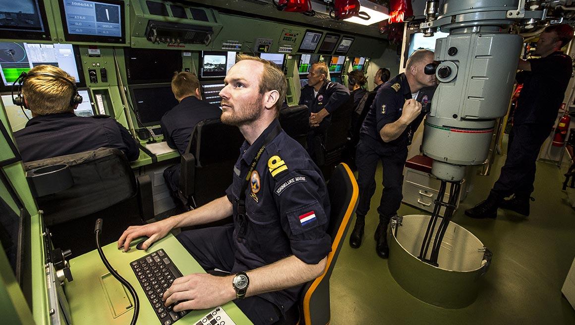 controlekamer onderzeeër
